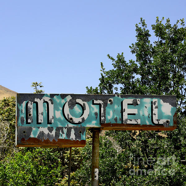 Old Motel Sign Print by Art Block Collections