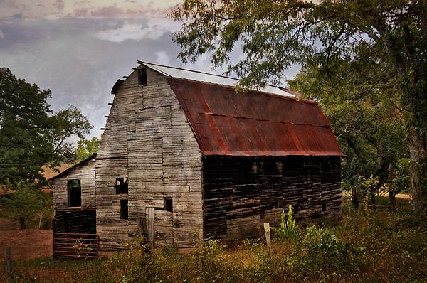 Old Oak Barn Print by Marty Koch