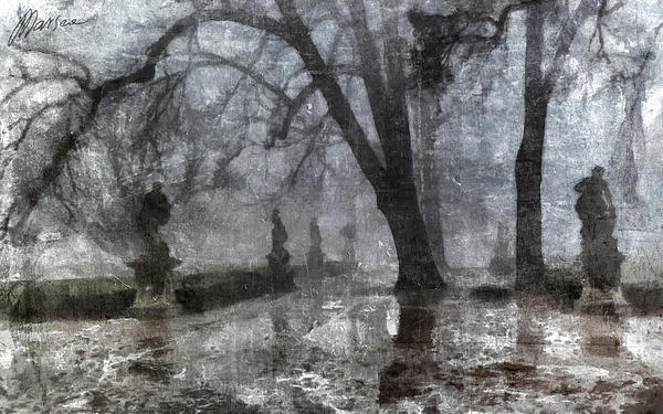 Old Park Print by Marina Likholat