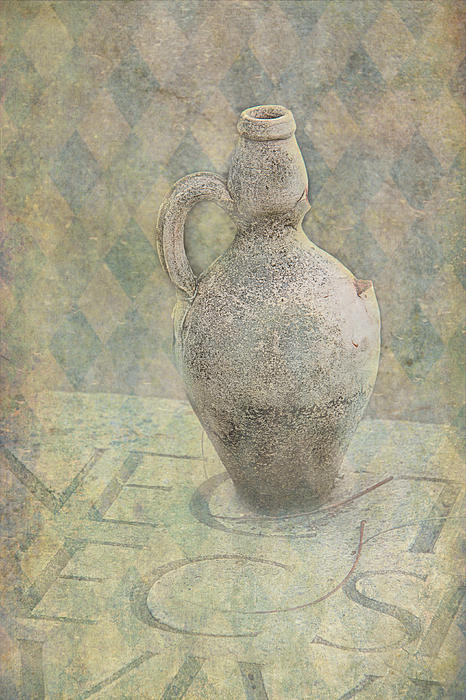 Old Pitcher Abstract Print by Garry Gay