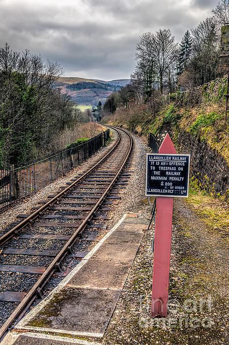 Old Railway Sign Print by Adrian Evans