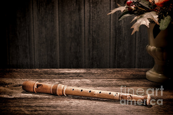 Old Recorder Print by Olivier Le Queinec