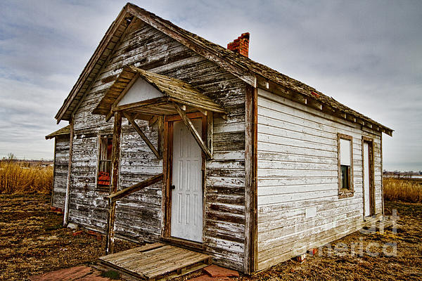 Old Rustic Rural Country Farm House Print by James BO  Insogna