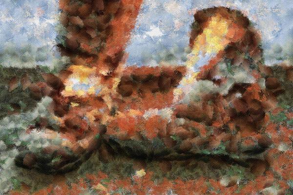 Old Snow Boots Print by Ayse Deniz