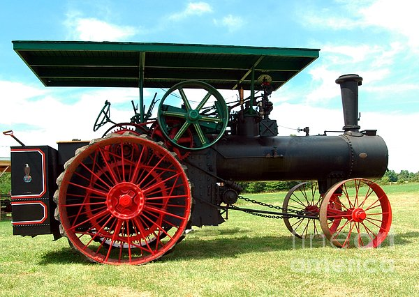 Old Steam Engine Print by Kathleen Struckle