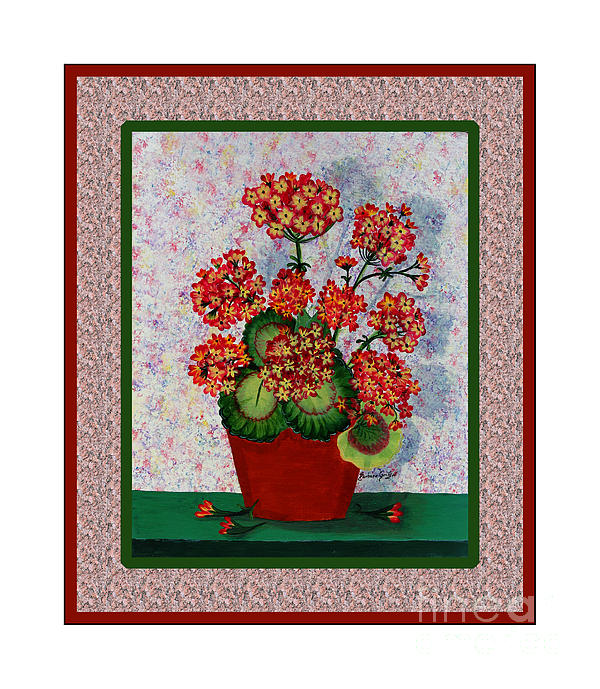 Old Time Geraniums Print by Barbara Griffin