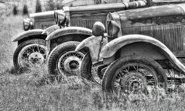 Old Timers Bw Print by Naman Imagery