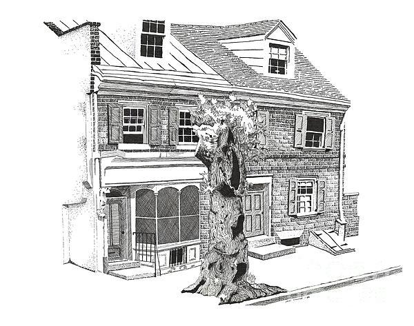 Old Town Philadelphia Print by Paul Kmiotek