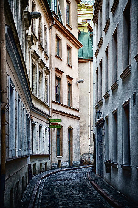 Old Town Street Print by Gynt