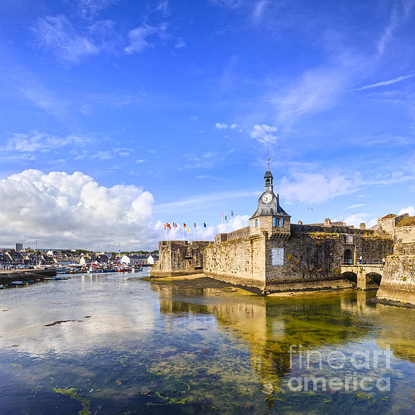 Old Town Walls Concarneau Brittany Print by Colin and Linda McKie