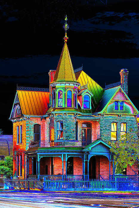 Old Victorian House Pop Art Print by Phyllis Denton