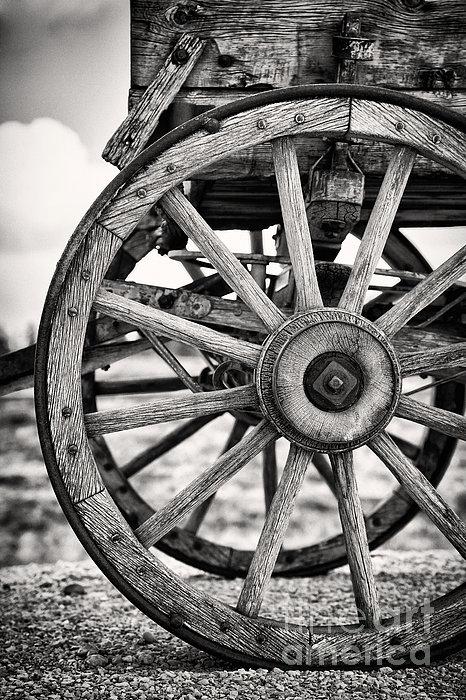 Old Wagon Wheels Print by Jane Rix