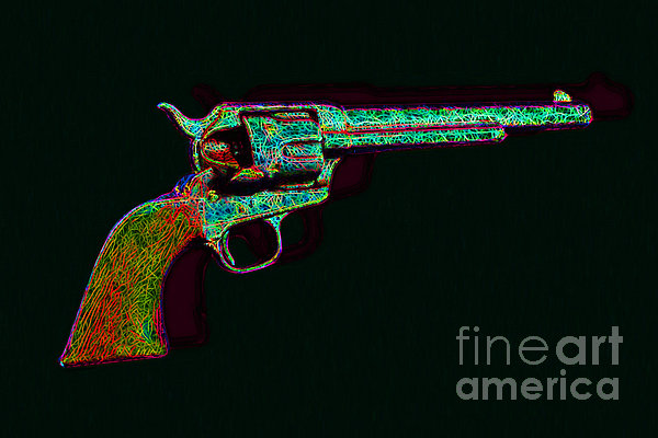 Old Western Pistol - 20130121 - V1 Print by Wingsdomain Art and Photography