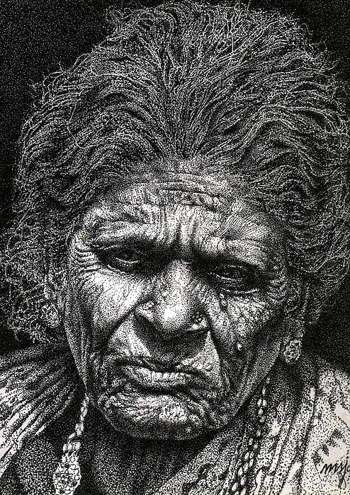 Johnson Moya - Old Woman In Sad