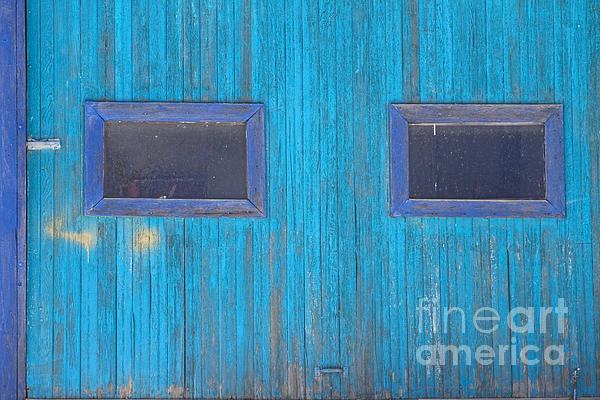 Old Wood Blue Garage Door Print by James BO  Insogna