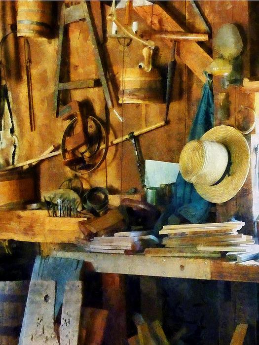 Old Wood Shop Print by Susan Savad