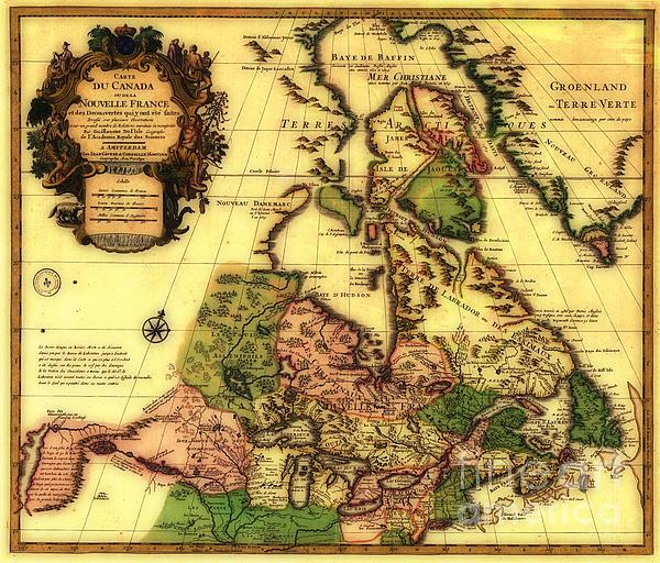 Old World Map Of Canada Print by Inspired Nature Photography By Shelley Myke