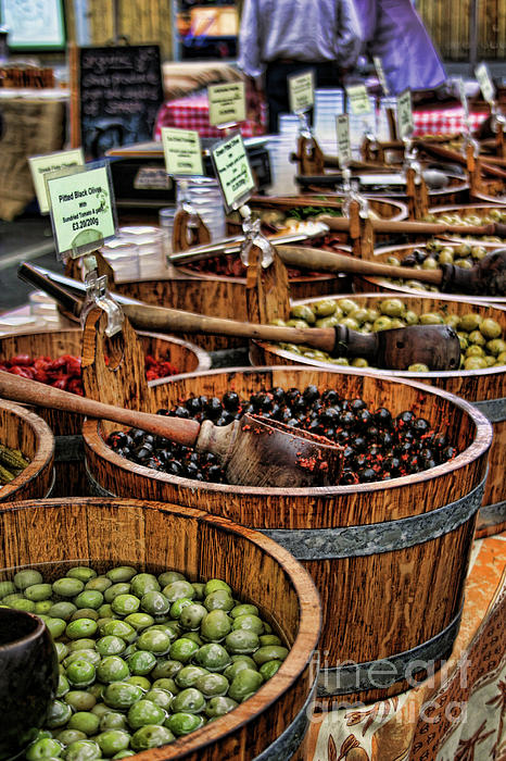 Olives Print by Heather Applegate