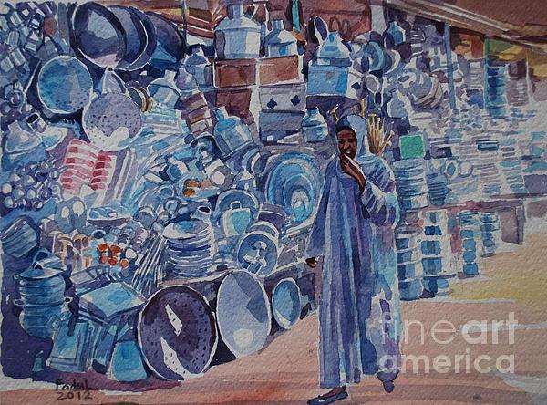 Omdurman Markit Print by Mohamed Fadul