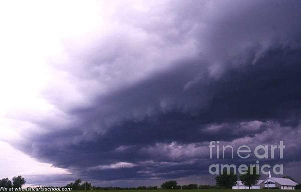 Ominous Clouds Print by PainterArtist FIN