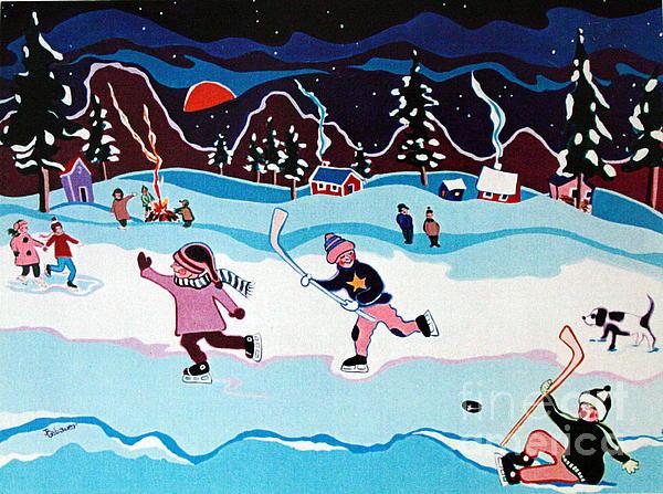 On Frozen Pond Print by Joyce Gebauer