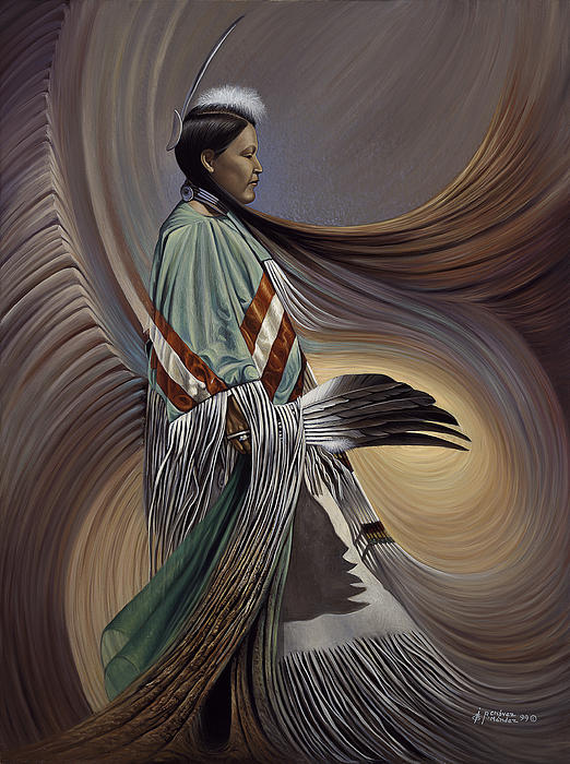 On Sacred Ground Series I Print by Ricardo Chavez-Mendez