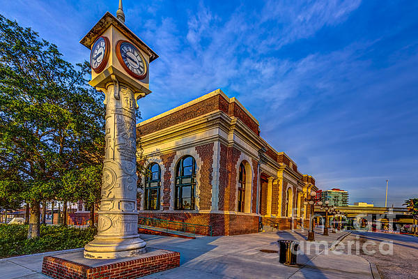 On Time Train Print by Marvin Spates