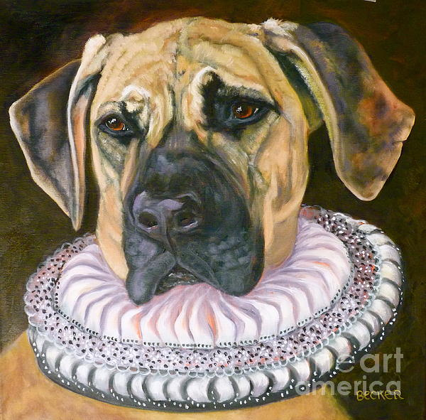 One Formal Pooch Print by Susan A Becker