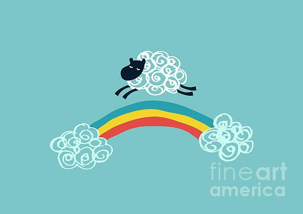 One Happy Cloud Print by Budi Kwan