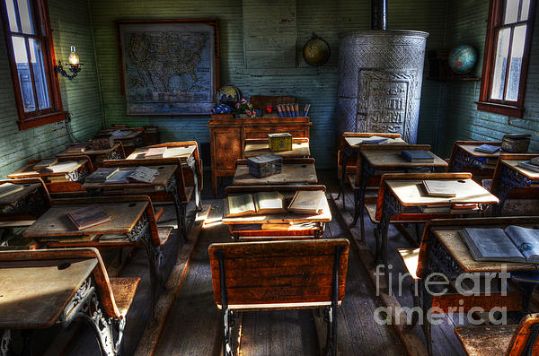 One Room School House Print by Bob Christopher