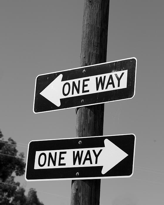 Jane Eleanor Nicholas - One Way or Another - confusing road signs