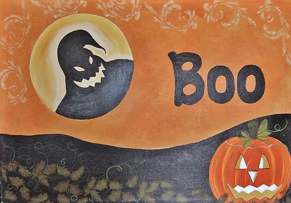 Oogie Boogie Boo Print by Cindy Micklos