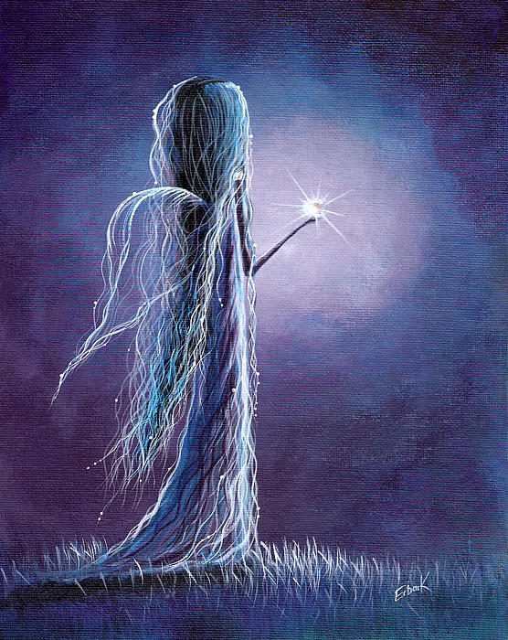 Opal Fairy By Shawna Erback Print by Shawna Erback