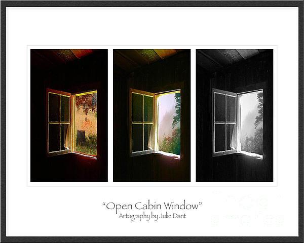 Open Cabin Window Trio Print by Julie Dant