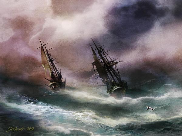 Open Sea Dangerous Drift Print by Stefano Popovski