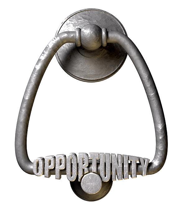 Opportunity Knocks Door Knocker Print by Allan Swart