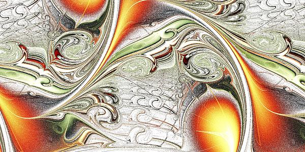 Orange Accent Print by Anastasiya Malakhova
