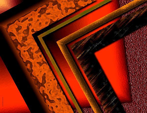 Orange And Brown  Print by Mario  Perez