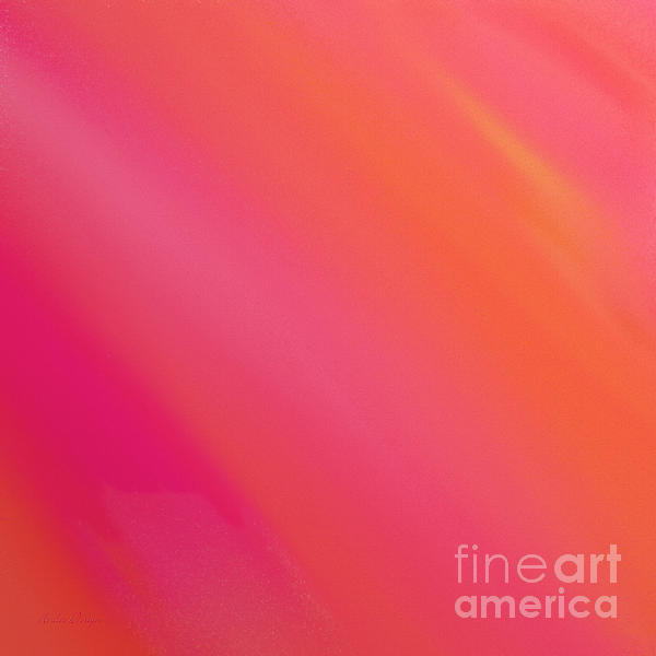 Orange And Raspberry Sorbet Abstract 3 Print by Andee Design