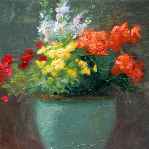 Jacki Newell - Orange Begonias