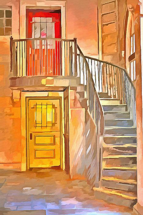 L Wright - Orange Door Yellow Door