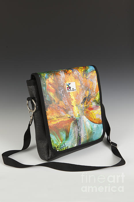 Kasha Ritter - Orange Flower Cross Body Bag