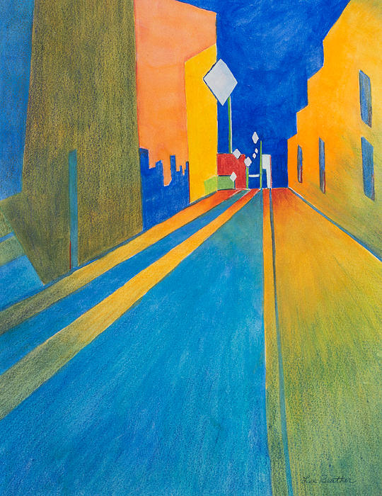 Orange France At Night Print by Lee Beuther