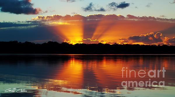Orange Gods - Sunrise Panorama Print by Geoff Childs