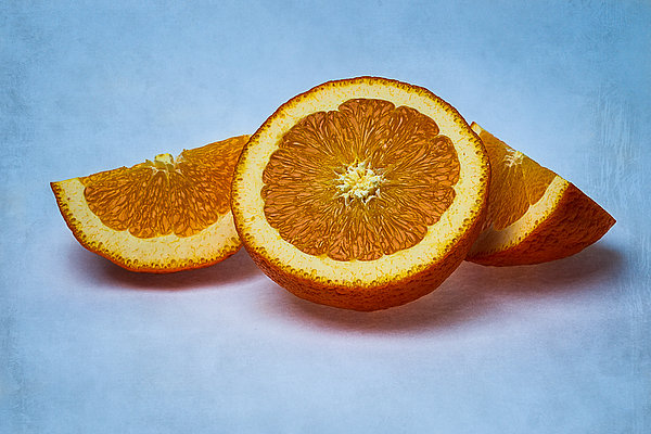 Orange Sliced Print by Alexander Senin
