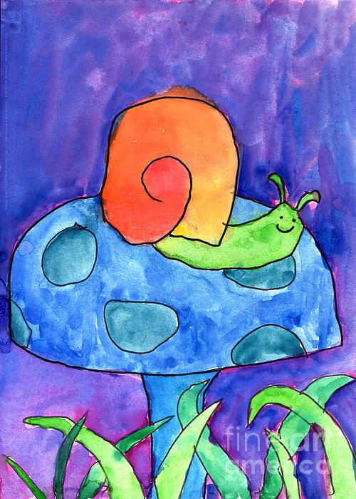 Orange Snail Print by Nick Abrams Age Twelve