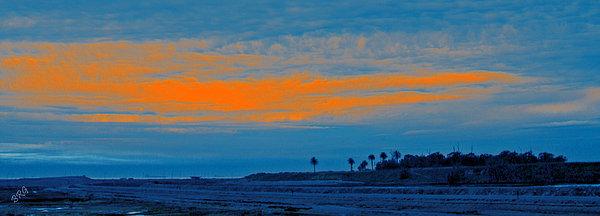 Orange Sunset Print by Ben and Raisa Gertsberg