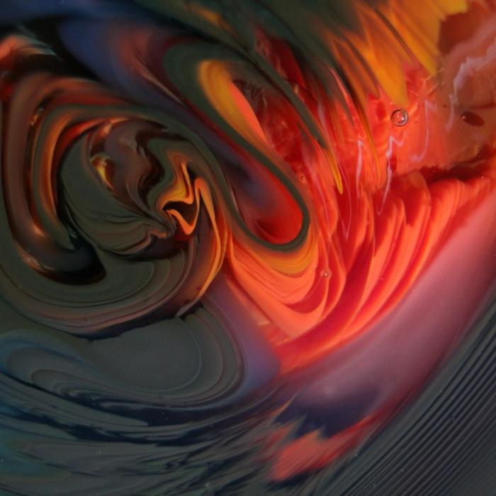 Orange Swirls Print by Kimberly Lyon