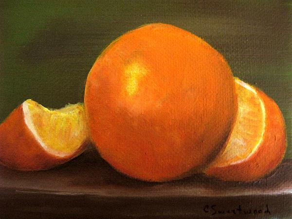 Oranges Print by Carol Sweetwood