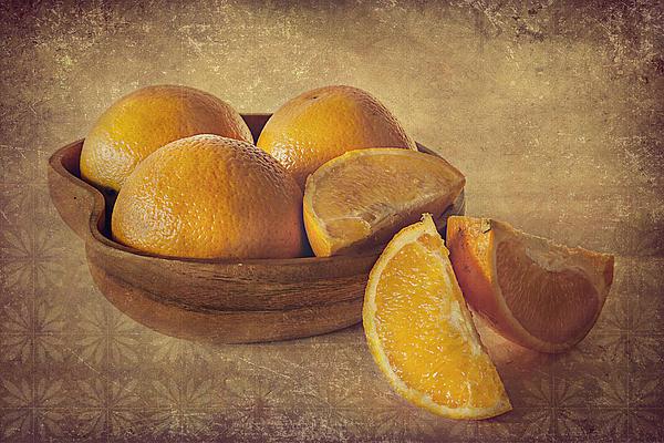 Oranges Print by Lyn Darlington